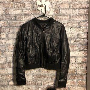 Bagatelle faux leather bomber jacket